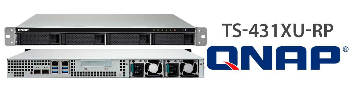 TS-431XU-RP, NAS quad-core com portas duplas 10GbE SFP + e fontes de alimentação redundantes