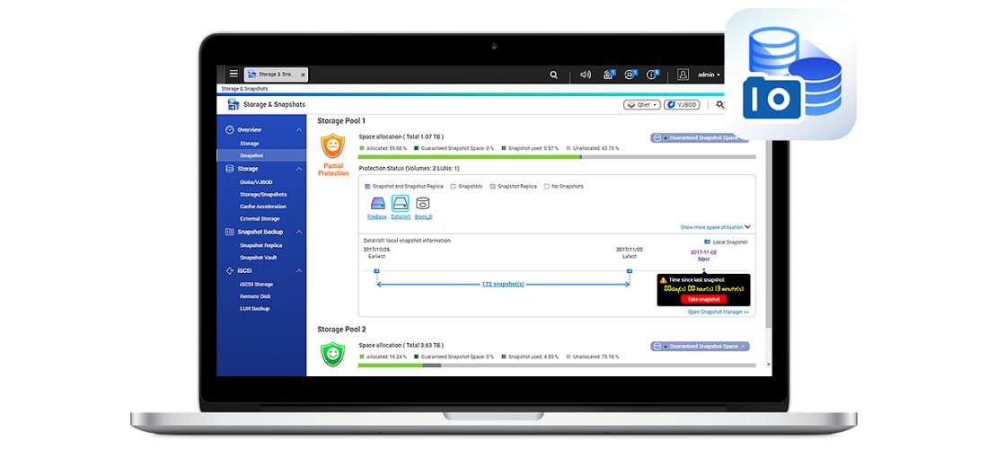 Snapshot, segurança dos dados e rápidas recuperações