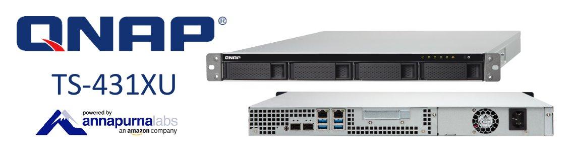 TS-431XU, Storage NAS 4 baias 56TB com duas portas 10GbE SFP+