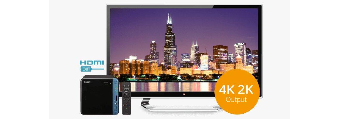 Saída HDMI de 4K @30Hz para uma excelente experiência audiovisual