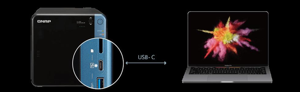 USB-C QuickAccess para acesso direto a arquivos do NAS