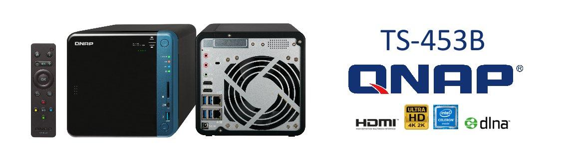 TS-453B 56TB, Storage 4 baias multimídia com saídas HDMI 4K