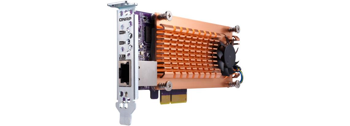 Conectividade 10GbE e cache SSD para maior eficiência em transferências de dados