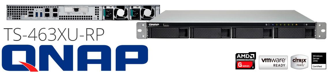 TS-463XU-RP Qnap, solução NAS 4 baias com cache SSD