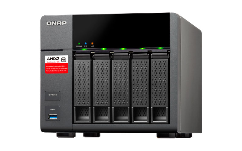 TS-563 Qnap - Storage 5 baias NAS SATA Hot-Swappable