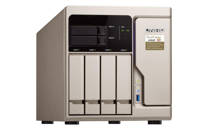 Qnap TS-677 - NAS server 48TB 4 baias SATA e 2 SSD
