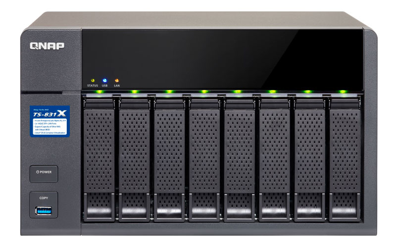TS-831X Qnap - 8 bay NAS Desktop 24TB SATA