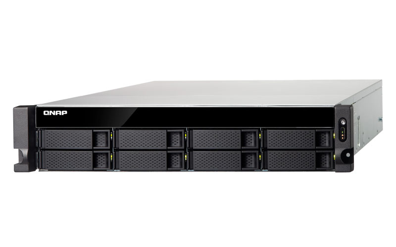 TS-832XU - Storage NAS 8 baias Rackmount Hot-Swappable com 2 portas 10GbE