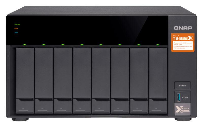 TS-832X - Storage NAS 8 baias Quad Core com slots PCIe