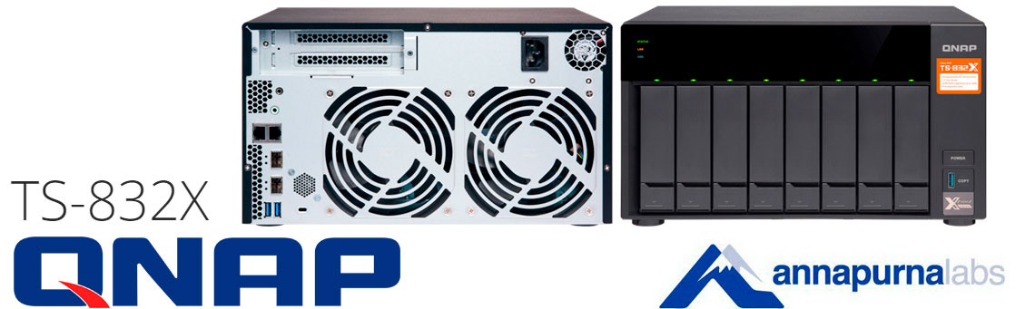 TS-832X, o NAS server 8 baias até 96TB da Qnap