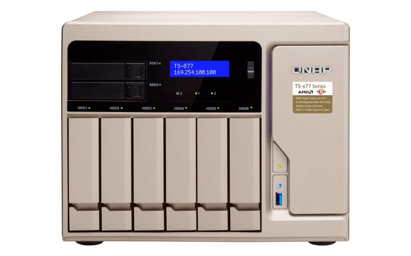 TS-877 Qnap - Storage NAS 6 baias 84TB