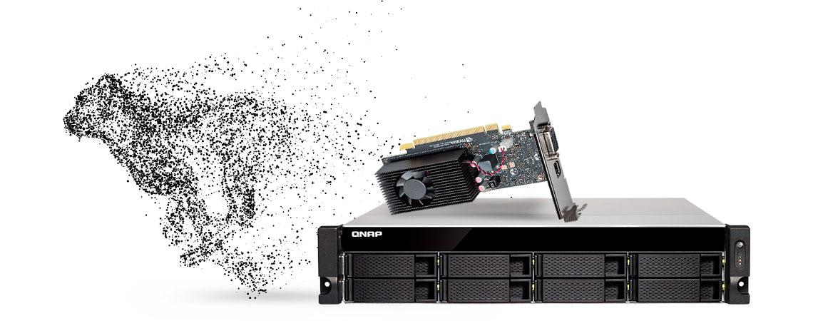 NAS com processamento acelerado por GPU via placa gráfica