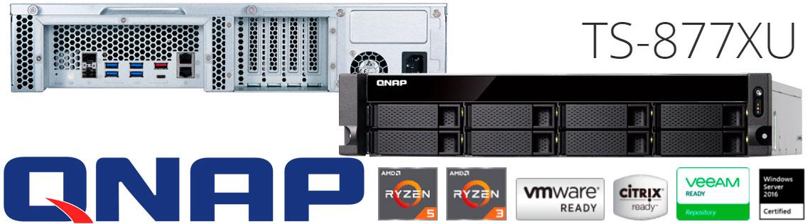 TS-877XU Qnap, servidor NAS 64TB ideal para virtualização