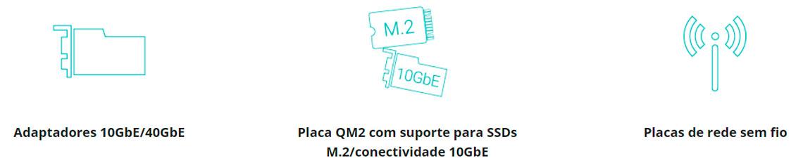 Amplie a funcionalidade do NAS com placas PCIe