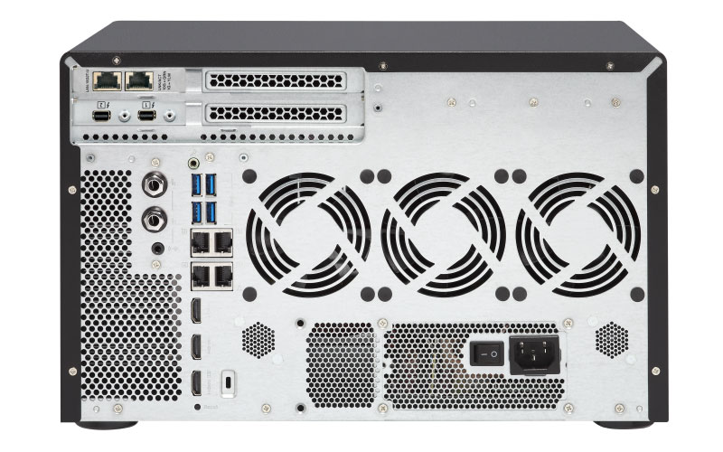 TVS-1282T 112TB - Tiered NAS Server Qnap 12 baias Thunderbolt