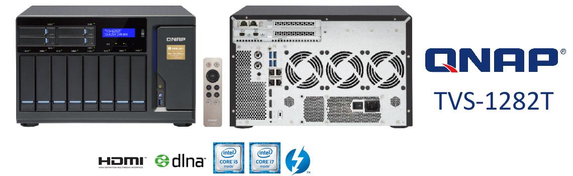 TVS-1282T 112TB - NAS server Thunderbolt com conexão 10GbE de alta velocidade