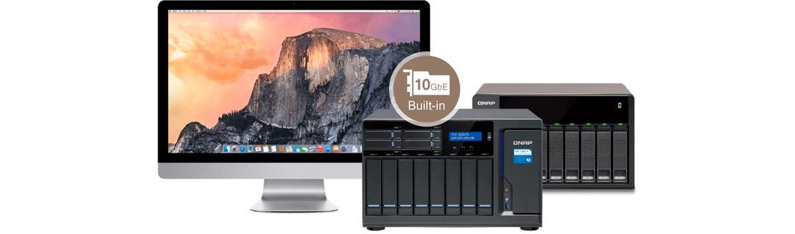Maior acessibilidade (Mac + JBOD) no TVS-1282T3