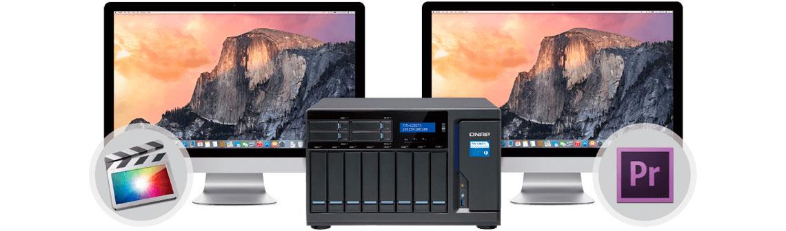 Ótima colaboração (PC + Mac) no storage