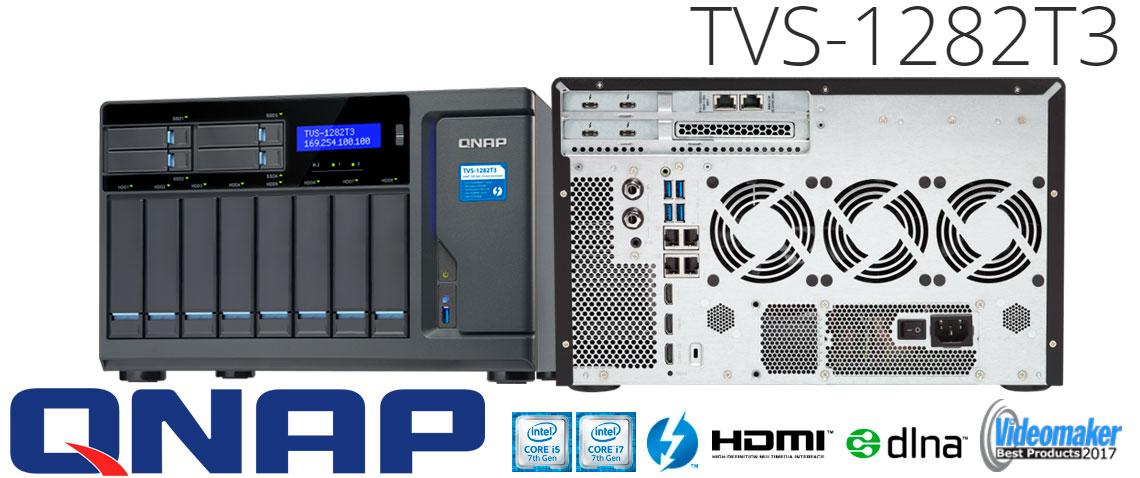 TVS-1282T3 - DAS/NAS/SAN com conexão LAN e Thunderbolt 3