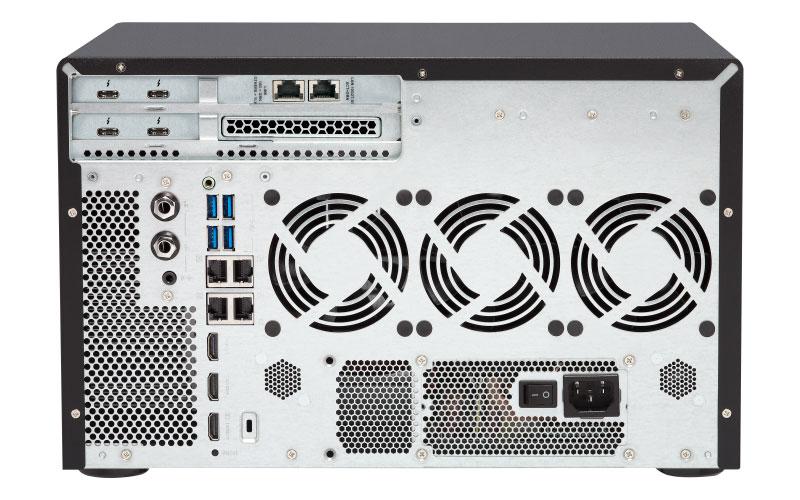 Qnap TVS-1282T3 Servidor NAS/SAN/DAS 8 Baias Thunderbolt 3
