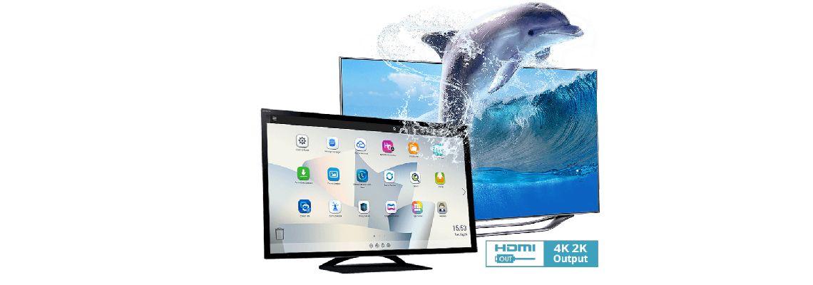 Transcodificação de vídeo 4K e duas saídas HDMI