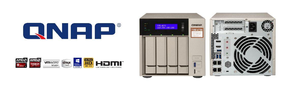 TVS-473e - Storage NAS de alto desempenho e com economia de energia