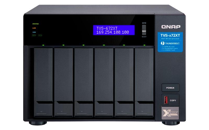 Qnap TVS-672XT - Storage NAS 6 baias até 84TB c/ Thunderbolt 3