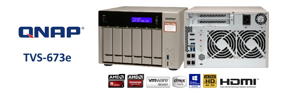 TVS-673e 84TB – NAS Server de alto desempenho