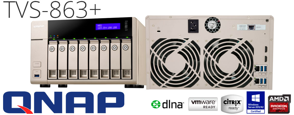 TVS-863+ NAS Storage veloz e eficiente