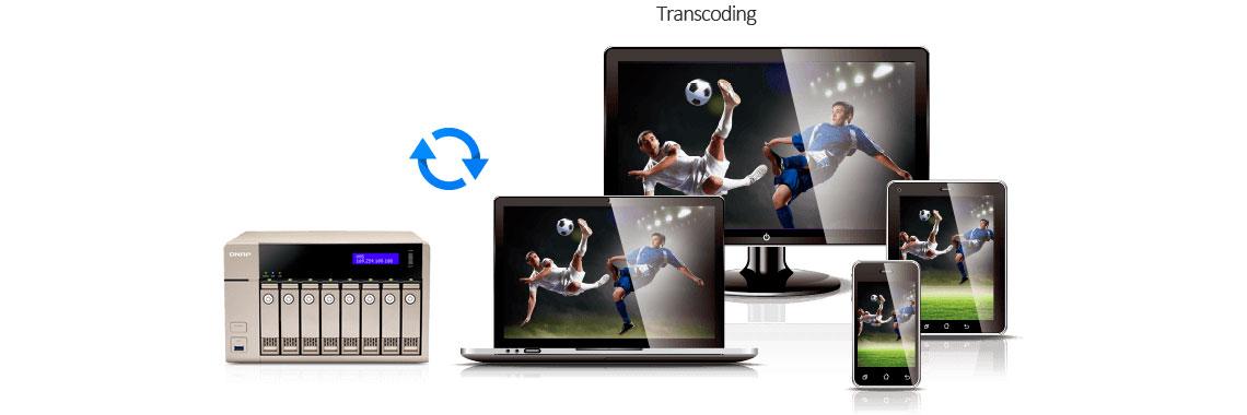 Transcodificação de vídeo offline e em tempo real