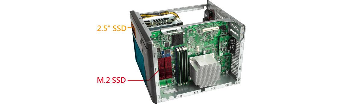Aceleração de cache via SATA e SSD no storage