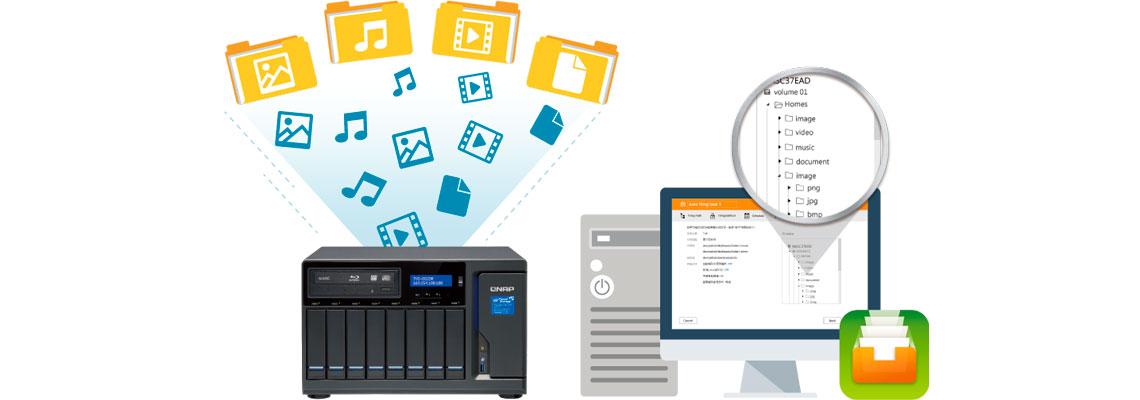 Arquivos organizados com o Qfiling