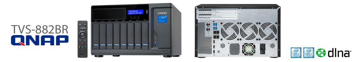 TVS-882BR – storage NAS com leitor Blu-ray
