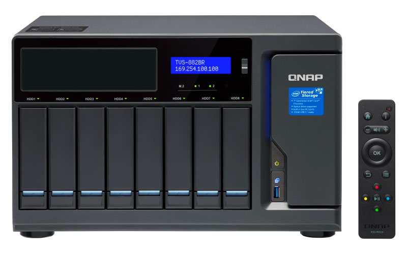 Qnap TVS-882BR - Servidor NAS Hot-Swappable 8 baias SATA