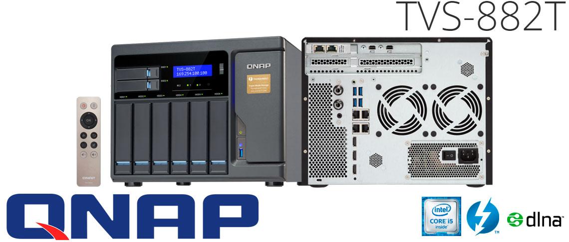 TVS-882T Qnap com interface Thunderbolt 2