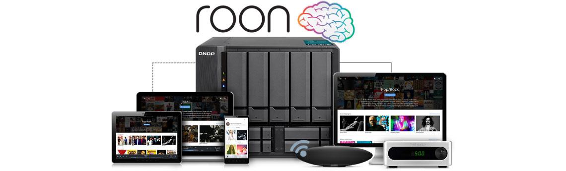 NAS multimídia com suporte para Roon Server