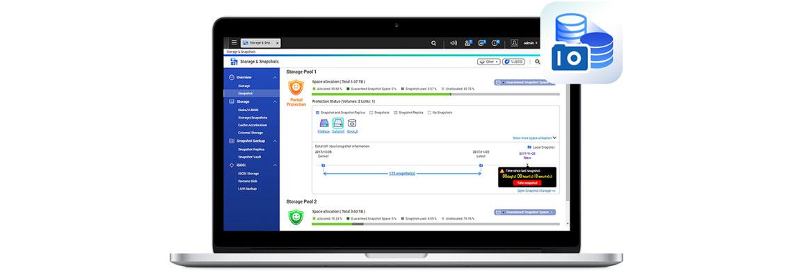 Tecnologia Snapshot para maior proteção de dados