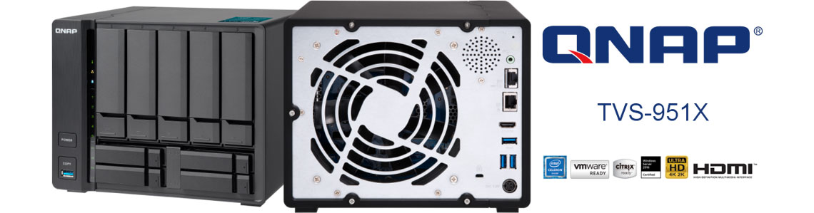 TVS-951X - 9-Bay NAS multimídia de alta capacidade